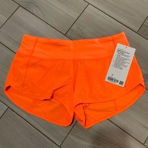 "Lululemon Speed Up Short 2.5"" Highlight Orange"